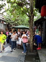 Wide and Narrow Tourist Streets in Chengdu